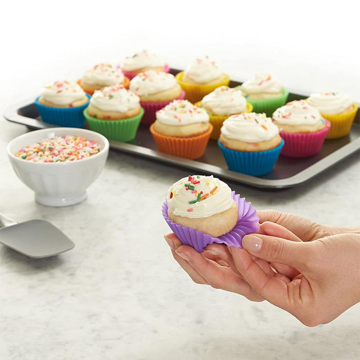 Reusable Non-Stick Silicone Baking Cups