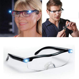 Eyeglasses with LED Light Magnifying Glasses