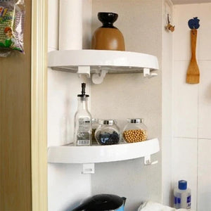 Multifunctional Corner Shelf Without Screws