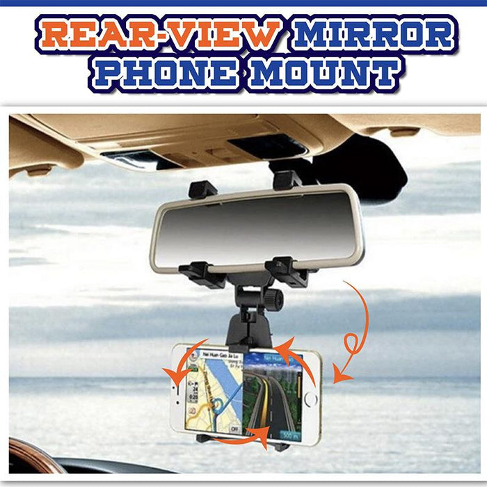Universal Car Rear-view Mirror Phone Mount