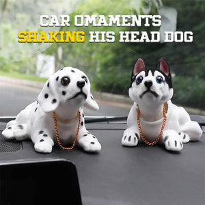 Car Ornaments Shaking His Head Dog
