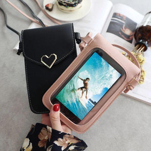 Stylish lady mobile phone bag