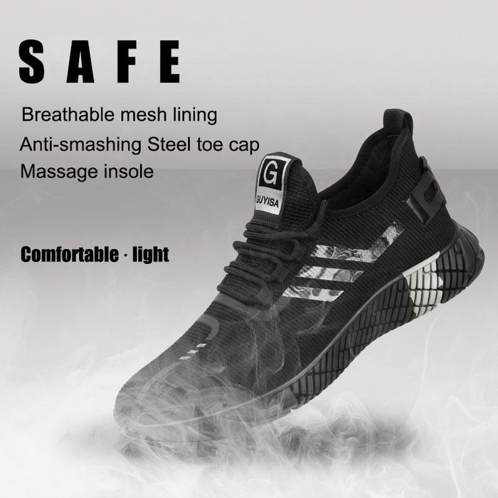 Non-slip steel toe safety shoes