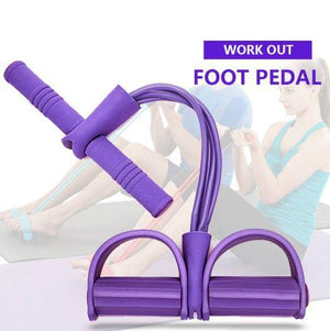 4-Tube Foot Pedal Resistance Band
