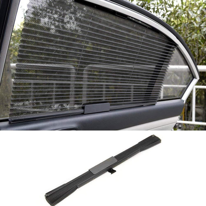 Car Window Sun Shade Curtain With 3M Adhesive, Black