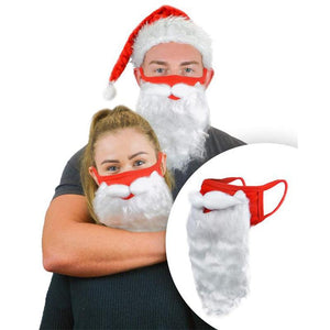 Santa Beard Face Mask Costume(2 pcs In One Set)