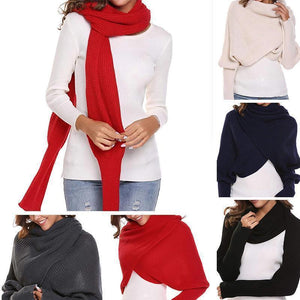 Autumn & winter fashion crochet knitted scarf with sleeves