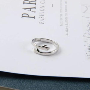 Romantic Couple Hug Hands Ring