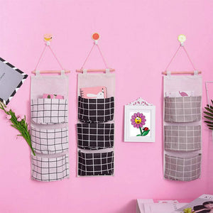3 Pack Wall hanging storage bag organizer