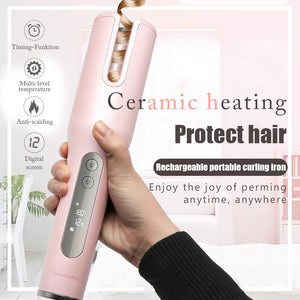 Rechargeable Wireless automatic hair curler