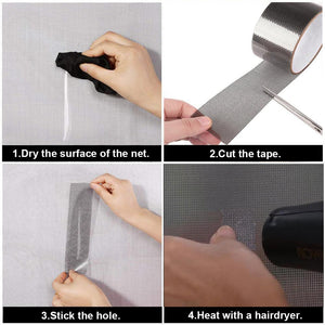 Repairing tape for screen window