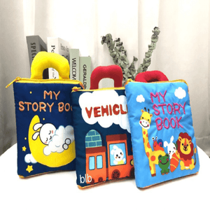 3D Three-dimensional Cloth Book For infants and Toddlers