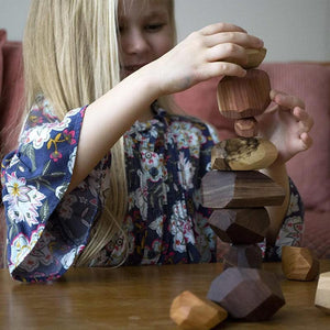 Wooden rock wood toys