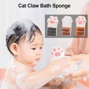 Soft Cute Cat Paw Bath Sponge