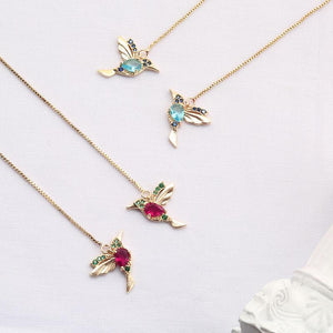 Ladies Elegant Hummingbird Rhinestone Earrings