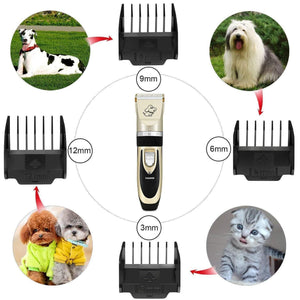 Professional rechargeable animal hair trimmer