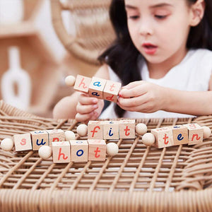 Alphabet Wooden Educational Phonetic Reading Blocks
