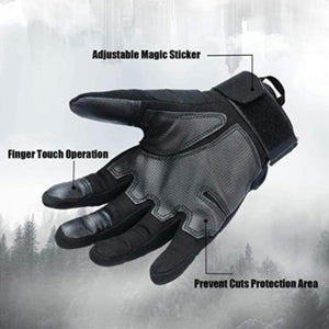 Touch Screen Full Finger Gloves for Outdoor Sports and Work