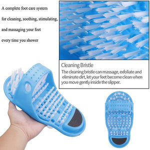 Safety Foot Shower Scrubber Massager Slipper