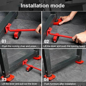 Tool Set for Lifting and Moving Heavy Furniture