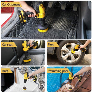 Bathroom Floor Kitchen Car Maintenance Cleaning Brush,Cordless Drill NOT Included