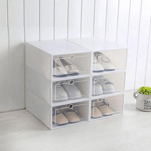 Shoe box with drawers