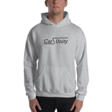 Hooded Sweatshirt with Black Font centered - Feastumes
