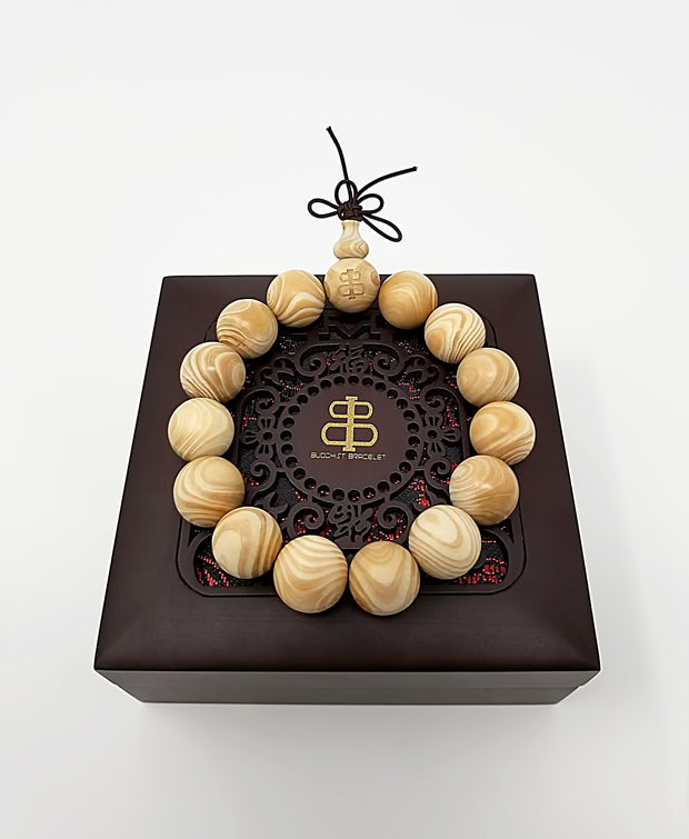 Royal Ivory Wood Bracelet - Buddhist bracelet