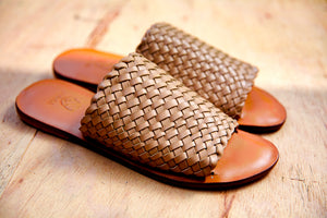 woven leather slippers,shoes,mules,sandals