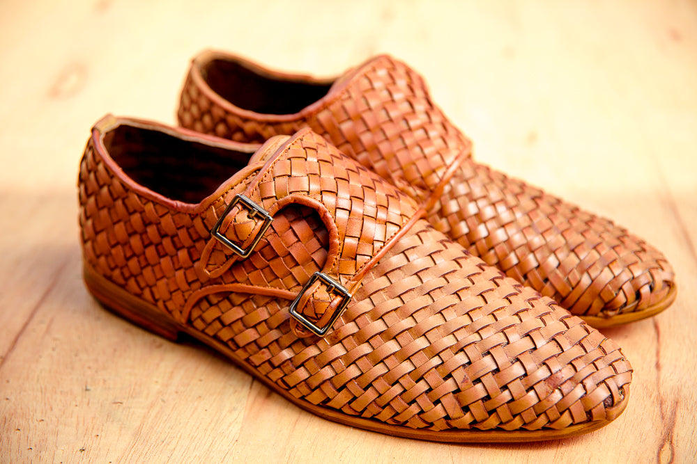 Double-monk woven shoes by SALUBATA