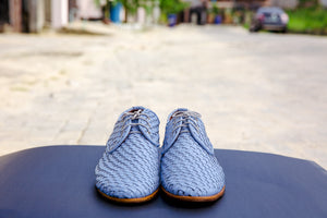vintage woven leather shoes by SALUBATA