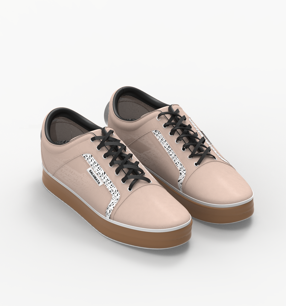 Modular component of shoe made from plastic wastes (PEACH Upper ONLY)