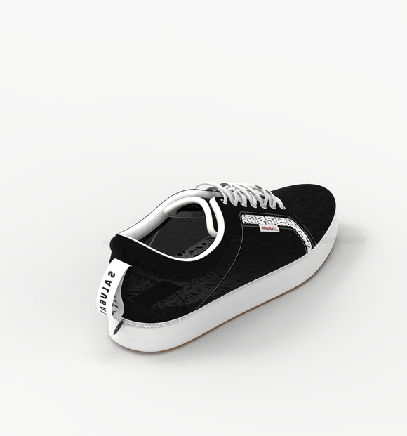 Full Shoe: Modular shoes made from plastic wastes (Black and White in One)