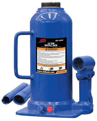 ATD-7384W Hydraulic Side Pump Bottle Jack, 12 Ton
