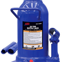 ATD-7386W Hydraulic Side Pump Bottle Jack, 20 Ton