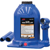 ATD-7387W Hydraulic Side Pump Bottle Jack (Shorty Version), 20 Ton