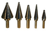 ATD-9200 Step Drill Bit Set, 5 Piece