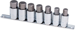 TTN-16157 7 Pc. Large Metric Hex Socket Bit Set