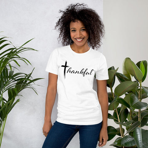 "Short-Sleeve Unisex ""Thankful"" T-Shirt"
