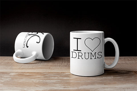 I LOVE DRUMS Mug