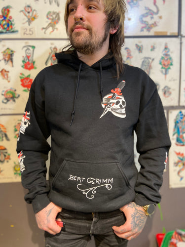 New! Our Black Grimm Reaper Long Sleeve Hoodie