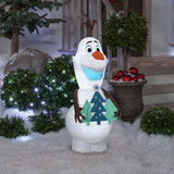 Gemmy Airblown Inflatable Olaf with Christmas Tree