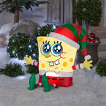 Gemmy Airblown Inflatable SpongeBob in Holiday Outfit