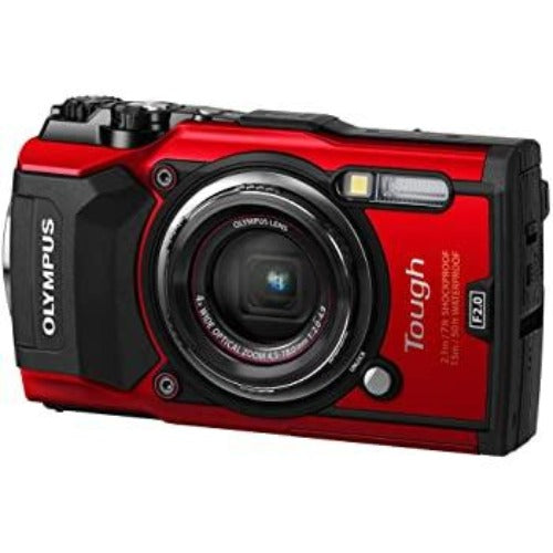 Olympus Tough TG-6 12.0-Megapixel Water-Resistant Digital Camera - Red - Techmatic