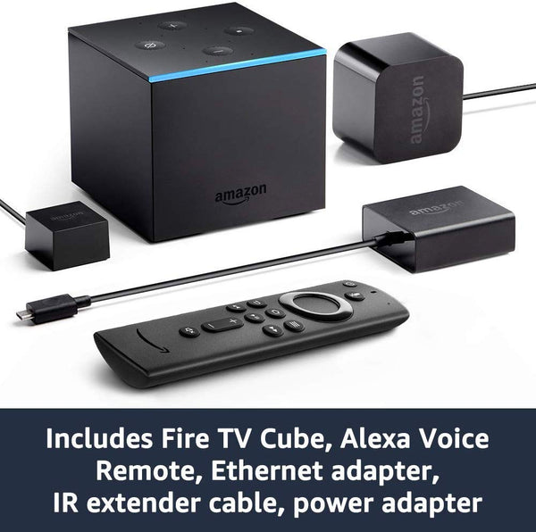 Amazon - Fire TV Cube 4K with Alexa Voice Remote, Black - Techmatic