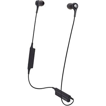 Audio-Technica ATH-CK200BTBK Bluetooth Wireless In-Ear Headphones with In-Line Mic & Control, Black