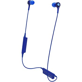 Audio-Technica Consumer ATH-CK200BT Wireless In-Ear Headphones with In-Line Mic (Blue)