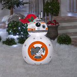 Gemmy Airblown Inflatable BB-8 in Santa Hat