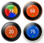 Nest 3rd Generation Learning Thermostats (color options available) - Techmatic