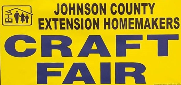Find us at the Johnson County Extension Homemaker Craft Fair